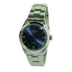 Rolex Steel Air King with Original Midnight Blue Dial from 1971 or 1972