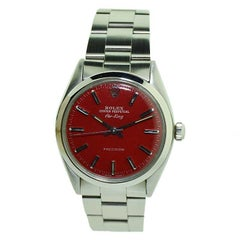 Rolex Air King with Custom Dial and Original Oyster Bracelet from 1980 or 1981