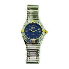 Breitling Steel and Gold Bracelet Watch, circa 1980s