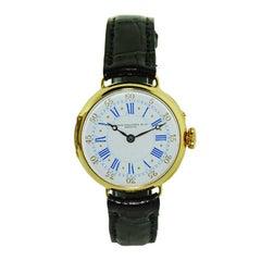 Patek Philippe 18 Karat Yellow Gold Pin Set Wristwatch, circa 1900s