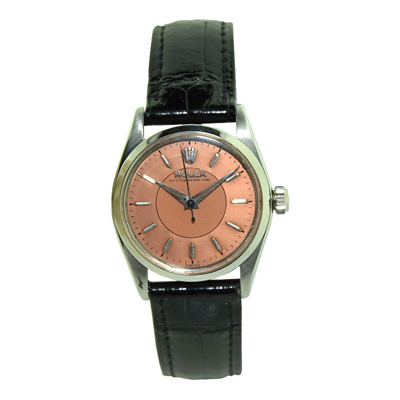 Rolex Rare Steel Oyster Perpetual Midsize from 1958