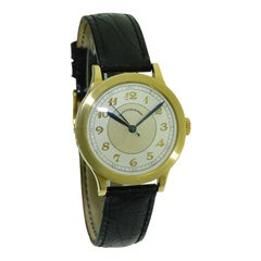 Black Starr & Frost by Movado 14Kt. Yellow Gold Art Deco Watch, Original Dial