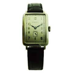 Longines 14 Karat Gold Art Deco Watch from 1930 with 1st Prize Salesmen Award