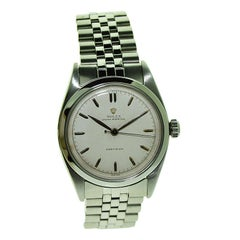 Rolex Stainless Steel with Rare Original Dial and Bracelet from 1953