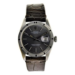 Rolex Steel Oyster Perpetual with Charcoal Dial from 1974 or 1975