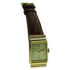 Tiffany by I.W.C. 14Kt. Solid Gold with Original Dial with Solid Gold Numerals