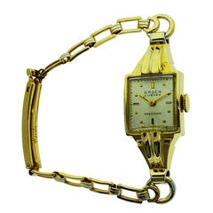 Gruen Gold Filled Rare Art Deco Ladies Curvex Watch with Original Bracelet