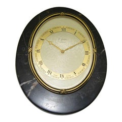 Gubelin Lucerne Art Deco Stone and Bronze Table Clock, circa 1930s