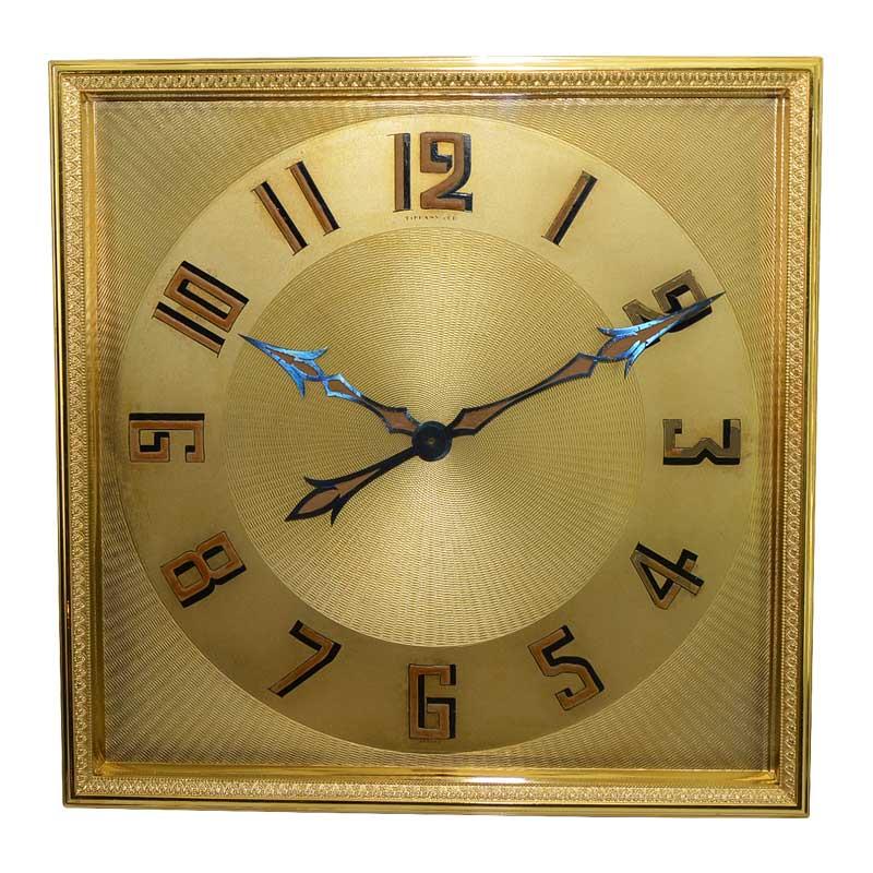 Tiffany & Co. Art Deco Desk Clock by Charles Hour, circa 1920s