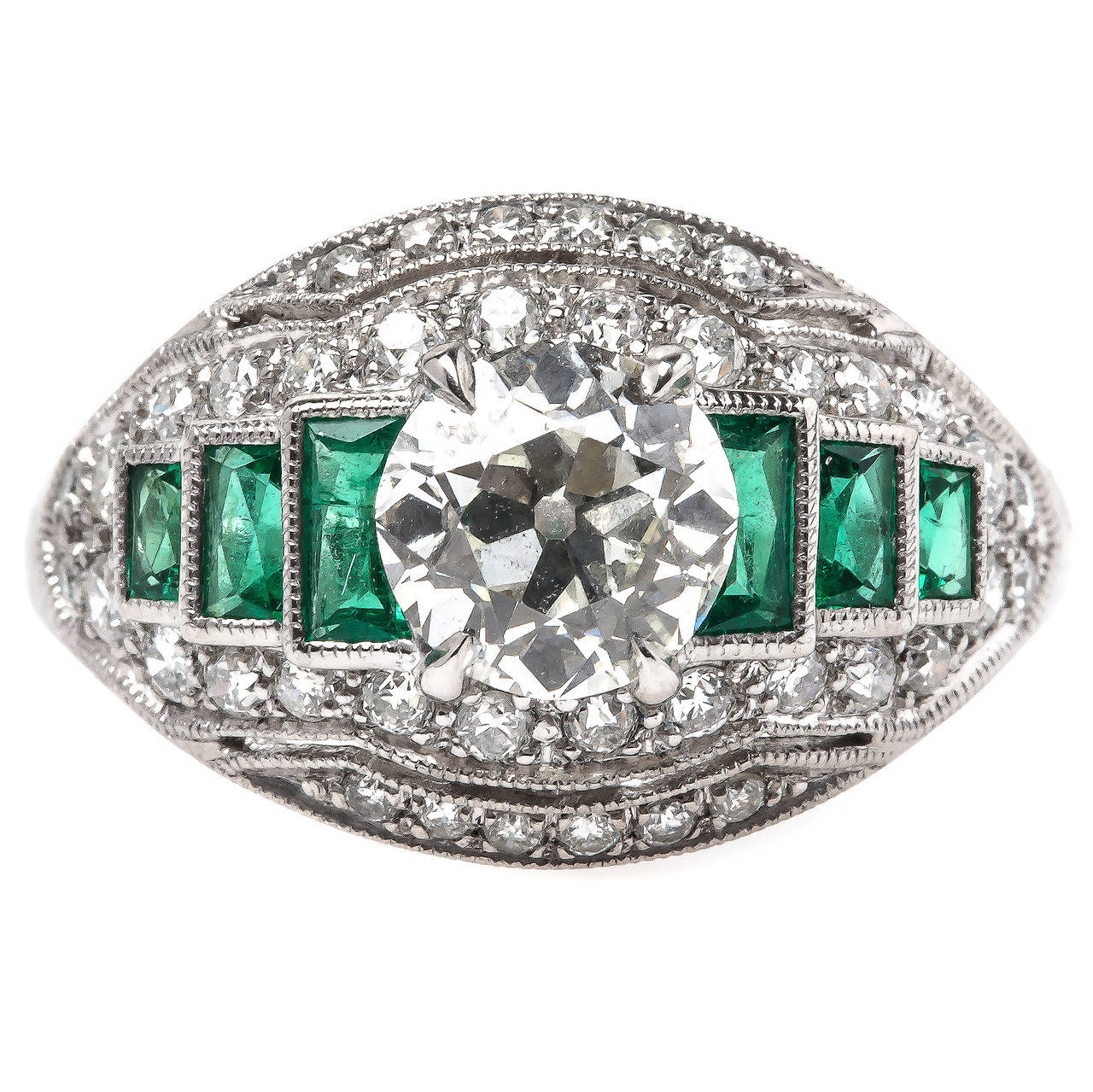 Elegant carat emerald diamond platinum engagement for 26 carat diamond ring