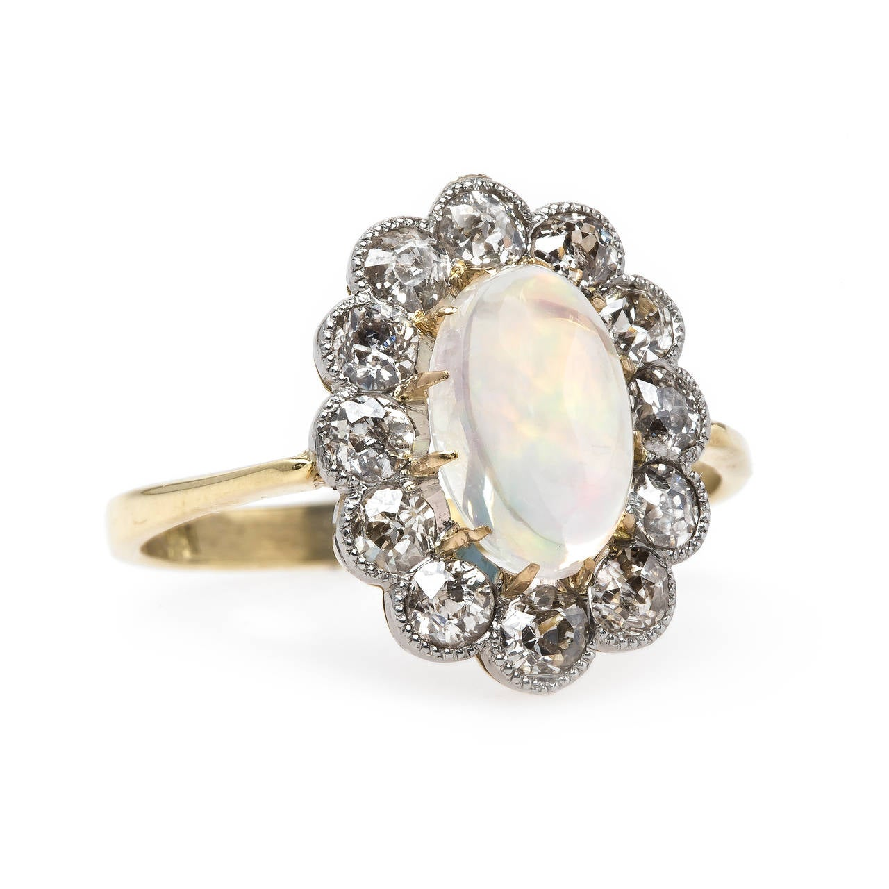 show stopping opal halo engagement ring