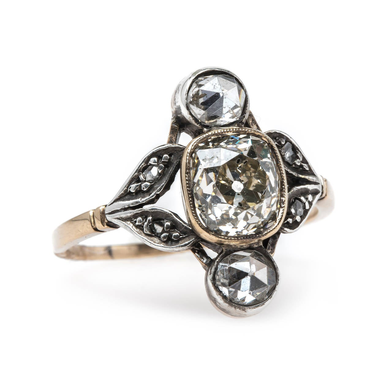 Art Nouveau Engagement Ring with Extremely Unique Design at 1stdibs