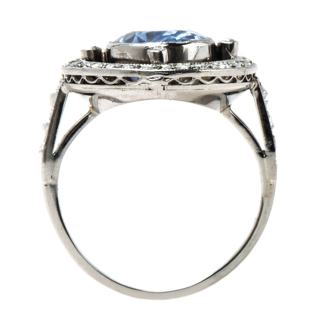 late deco sri lankan sapphire engagement ring at 1stdibs