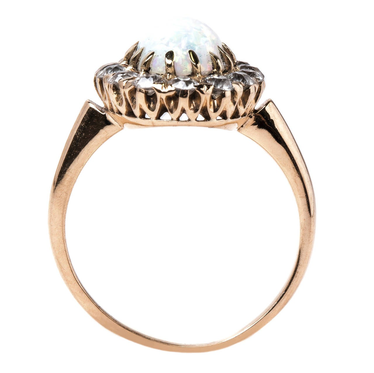 alluring era oval opal engagement ring with