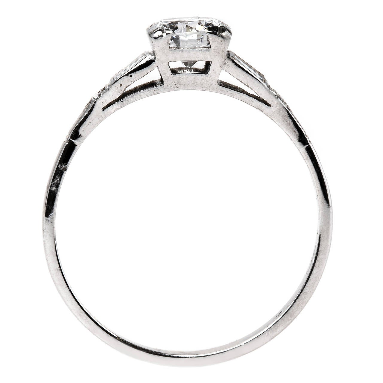 Traditional mid century ring with perfectly white 078ct for Orthodox wedding rings for sale