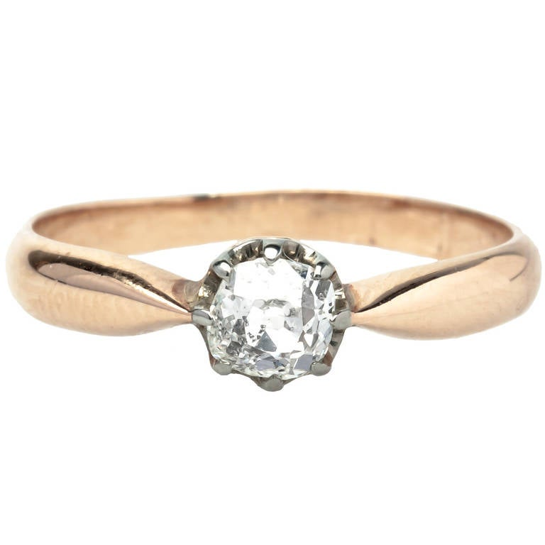 dainty 35 carat engagement ring at 1stdibs