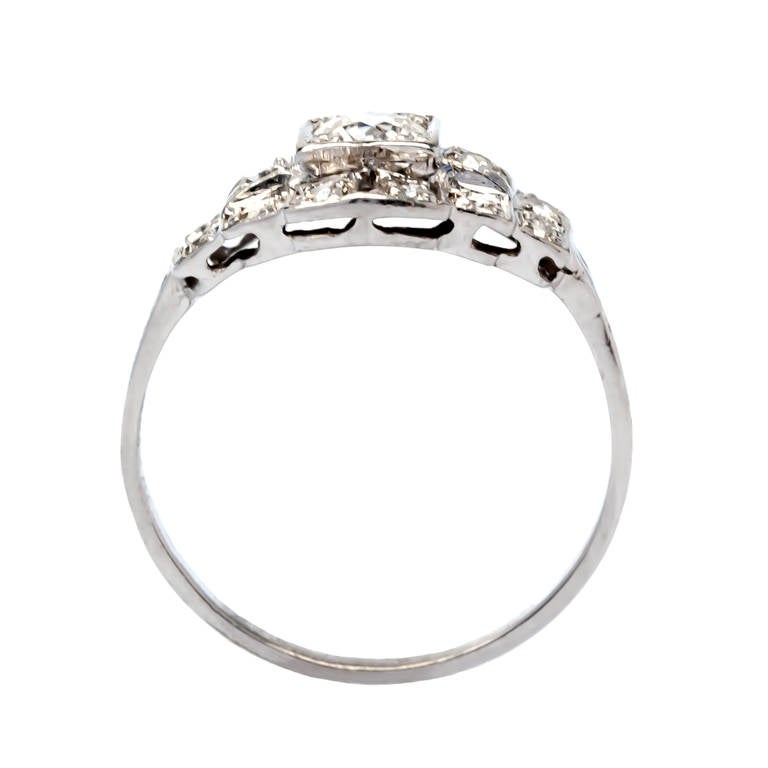 Classic 25 Carat Diamond Platinum Engagement Ring at 1stdibs