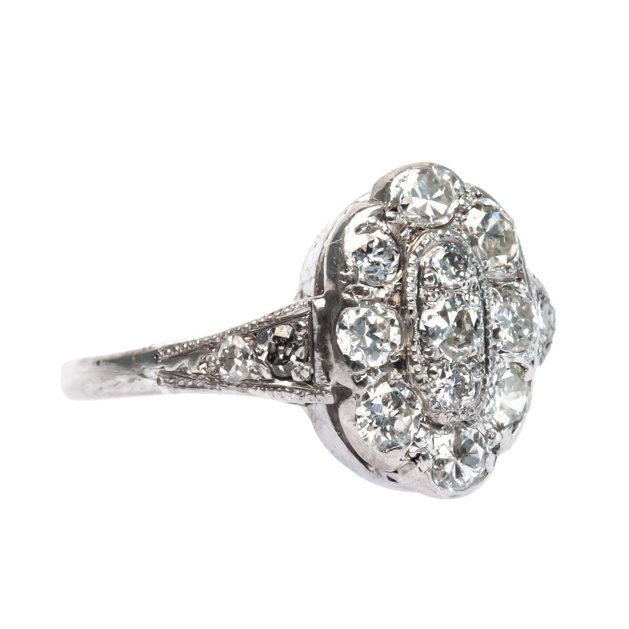 edwardian halo engagement ring at 1stdibs
