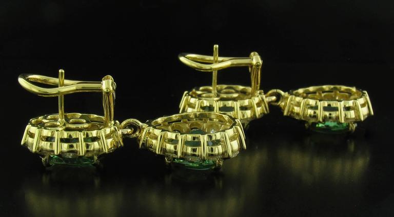 Green Tourmaline and Diamond Earrings 3
