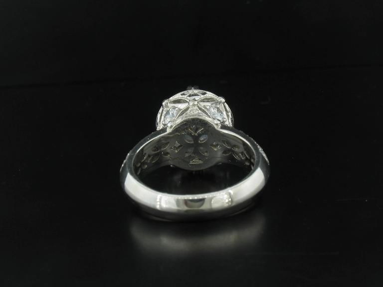 varna platinum semi mount ring at 1stdibs