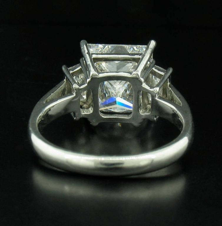 4.03 carat Princess Diamond Ring For Sale 1
