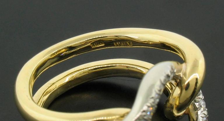 Italian Diamond and 18 Karat Gold Ring For Sale 1