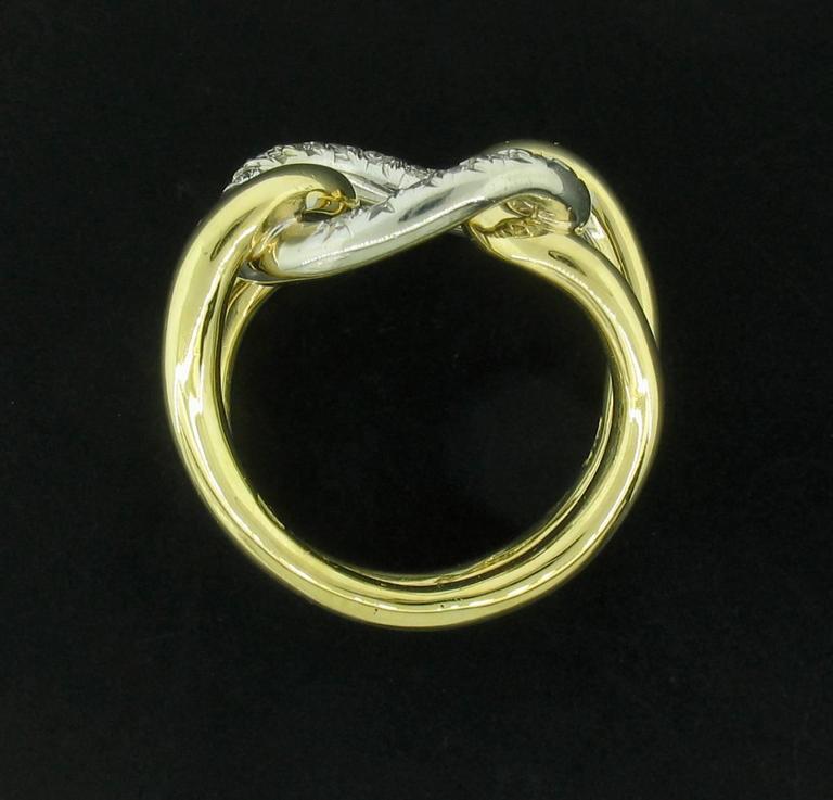 Italian Diamond and 18 Karat Gold Ring For Sale 2