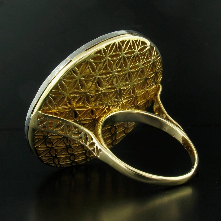 Diamond Slice Round Ring In Excellent Condition For Sale In Carmel, CA