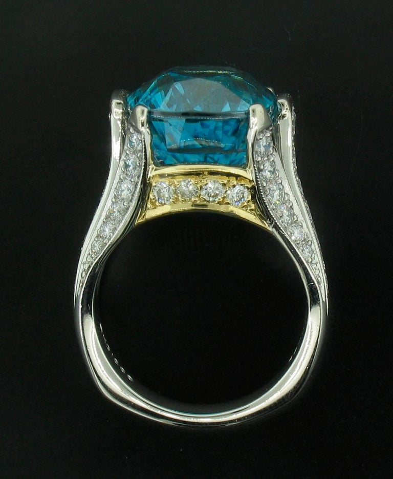 Women's Krementz Blue Zircon Ring For Sale