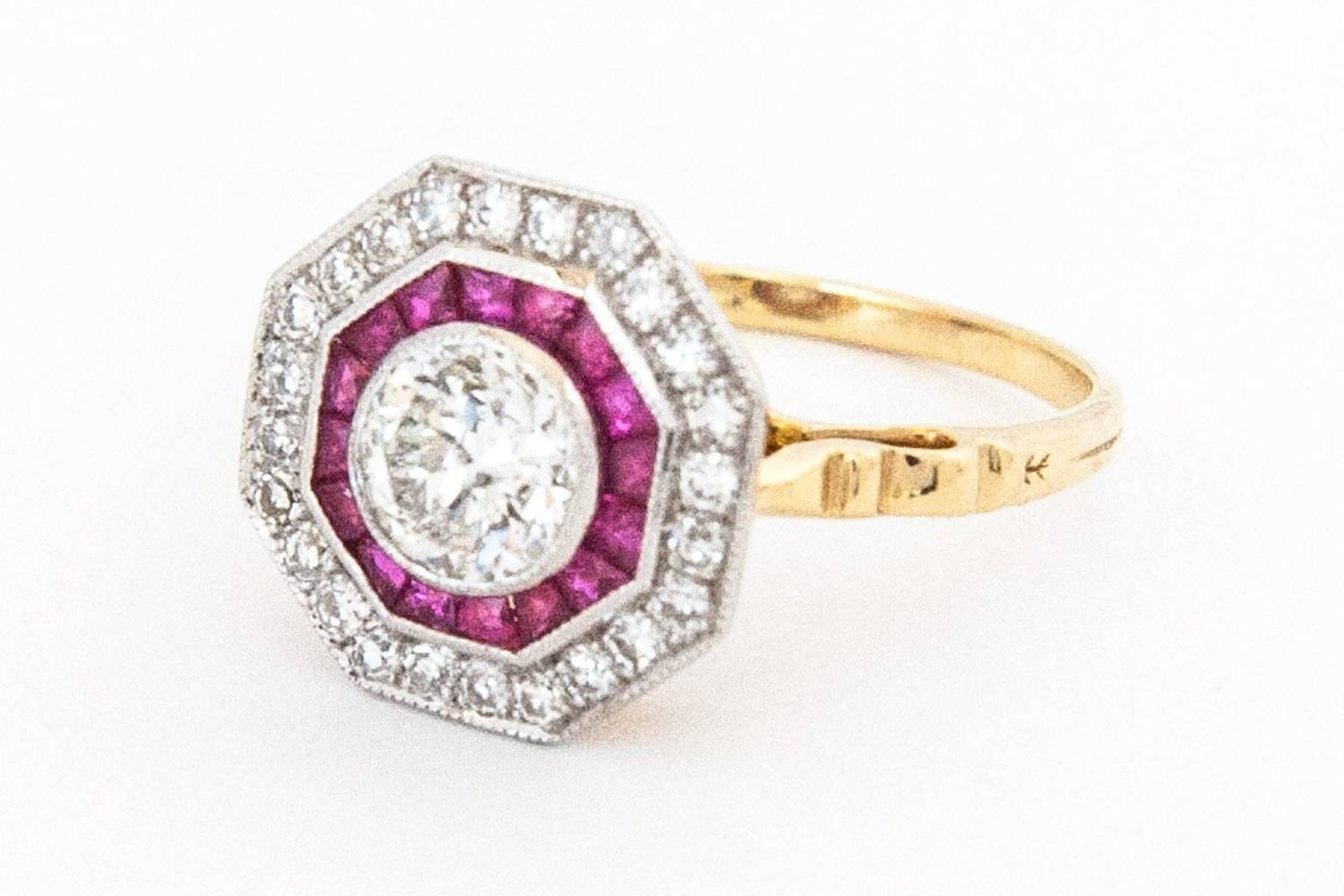 Ruby And Diamond Ring Gold Pinterest