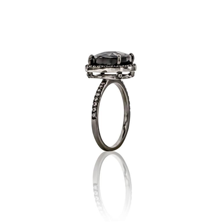 Sethi Couture 4.46 Carat  Black Diamond Ring 3