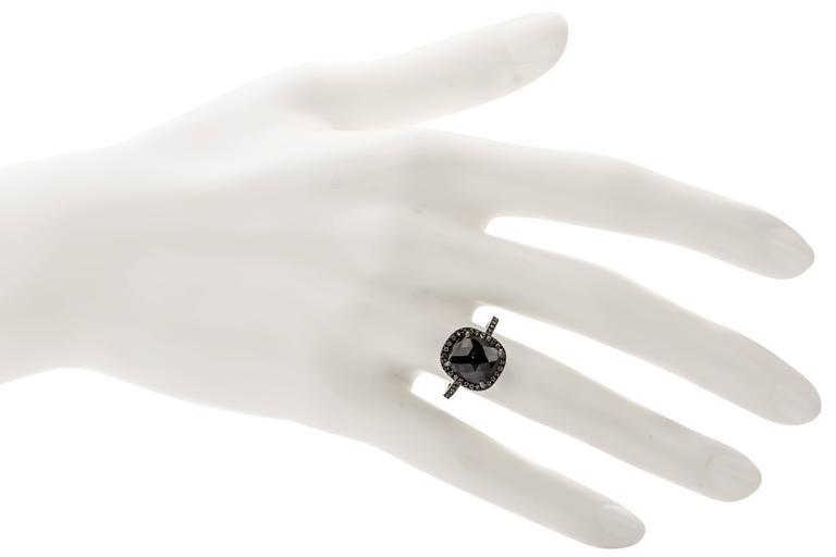 Sethi Couture 4.46 Carat  Black Diamond Ring 5