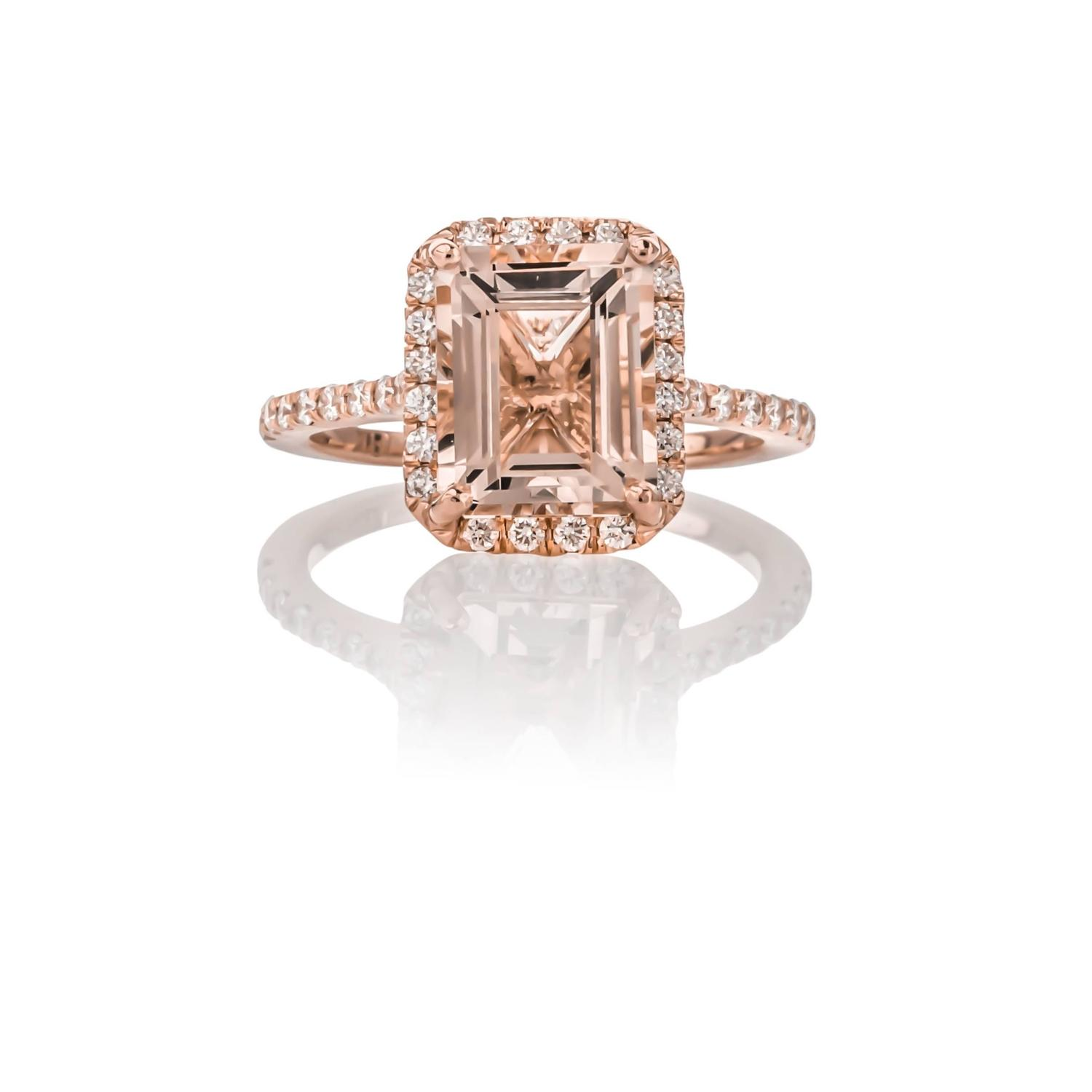 e of a Kind 3 58 Carat Morganite and Diamond Ring For Sale at 1stdibs