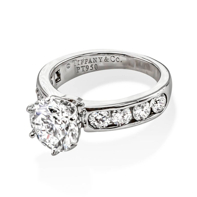 Tiffany and Co 2 08 Carat Diamond Engagement Ring For Sale at 1stdibs