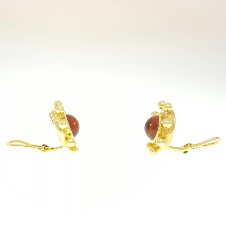 Tiffany & Co. Paloma Picasso Citrine Cabochon Gold Earrings 2