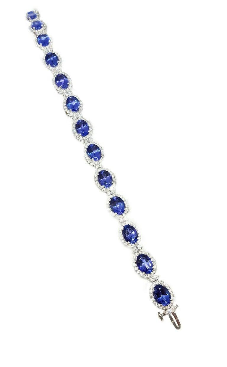 19 51 carat tanzanite bracelet at 1stdibs