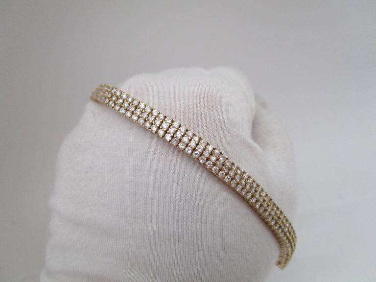 Modern 1980s Diamond Gold Bracelet For Sale
