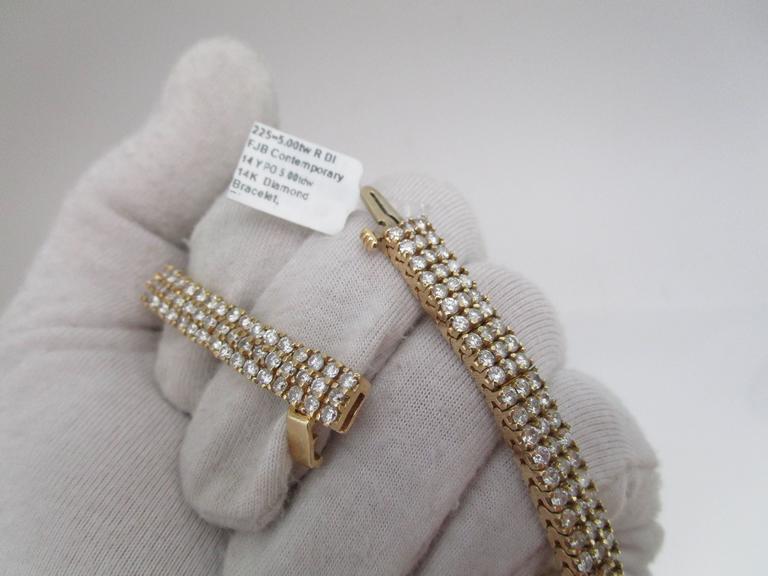 Women's or Men's 1980s Diamond Gold Bracelet For Sale