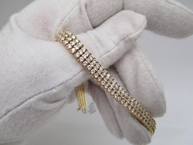 1980s Diamond Gold Bracelet For Sale 2