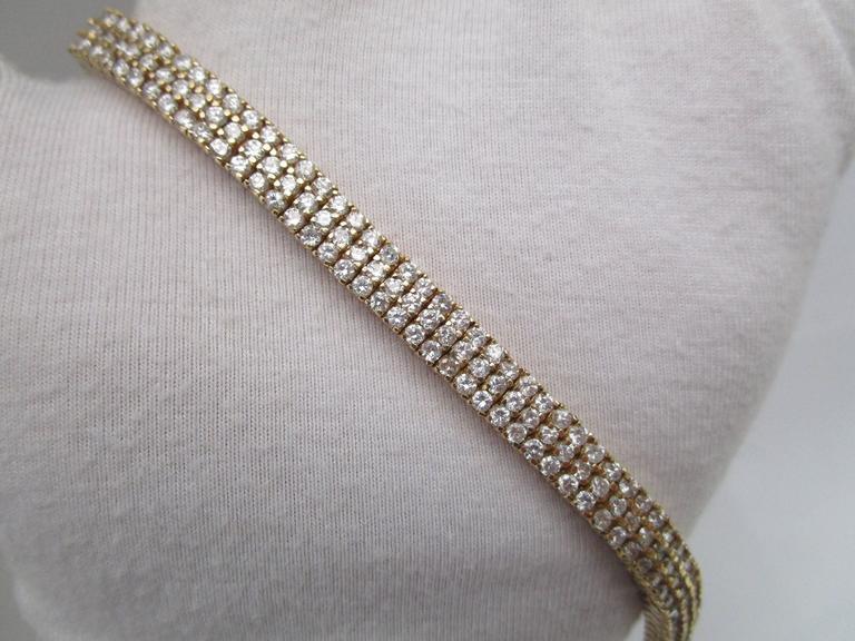 1980s Diamond Gold Bracelet For Sale 3