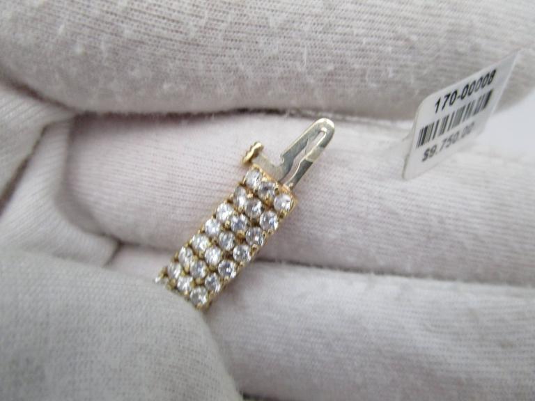 1980s Diamond Gold Bracelet For Sale 4