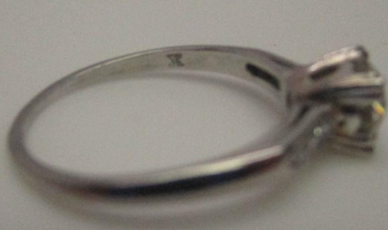 Platinum Diamond Engagement Ring For Sale 2