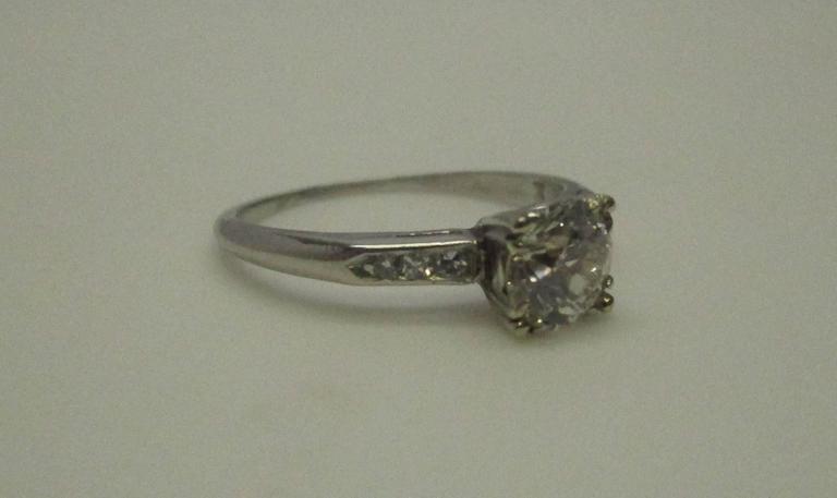 Platinum Diamond Engagement Ring For Sale 1