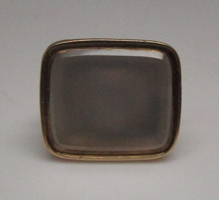 Victorian Chalcedony Gold Fob In Excellent Condition For Sale In Lexington, KY