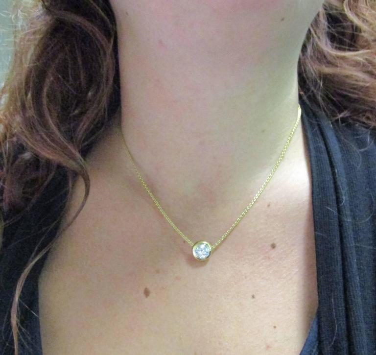 Diamond Gold Platinum Necklace In Excellent Condition For Sale In Lexington, KY