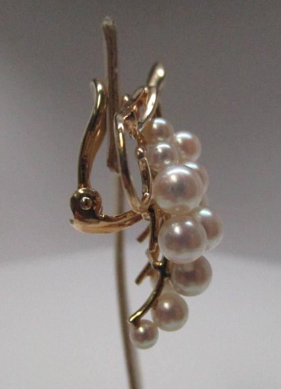 Contemporary Pearl Gold Clip-On Earrings For Sale