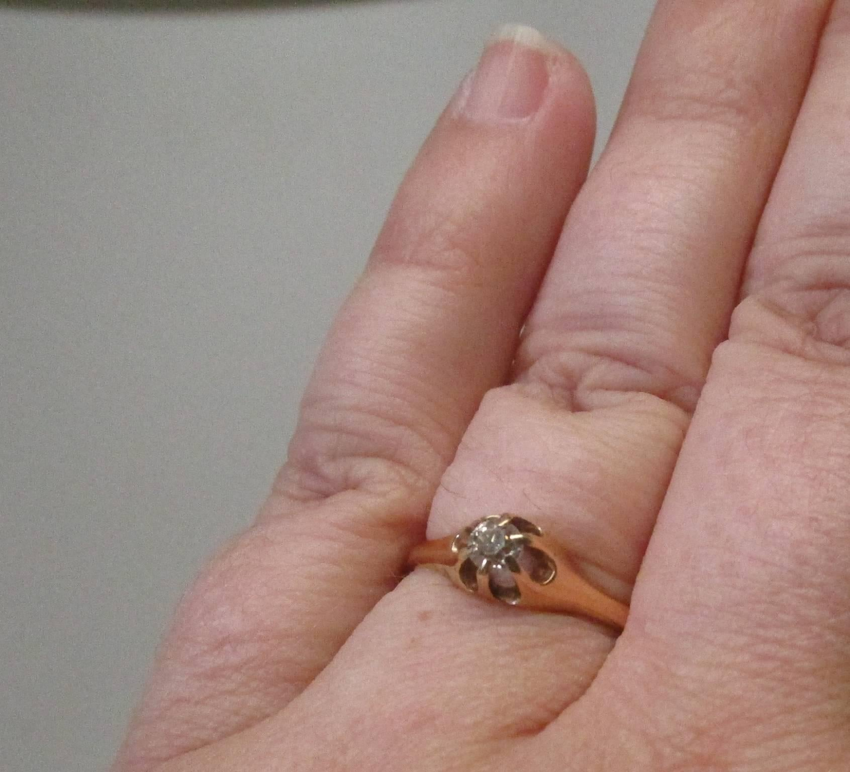 Victorian Diamond Gold Ring For Sale at 1stdibs