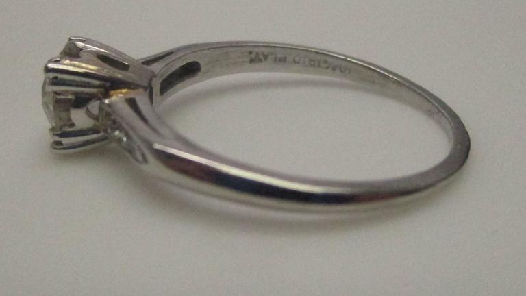 Platinum Diamond Engagement Ring For Sale 3