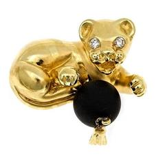 Tiger Cub with Ball Brooch