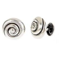 Whirlpool Sterling Silver Cufflinks